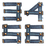 Letter number of jeans alphabet Stock Photos