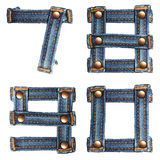 Letter number of jeans alphabet Royalty Free Stock Images