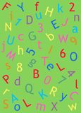 Letter and number page Stock Photo
