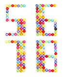 Letter numbers made of colorful beads Royalty Free Stock Photos