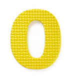 Letter O. Isolated on the white background Royalty Free Stock Photo