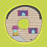 Letter O as Little House Royalty Free Stock Photography