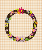 The letter O Bright floral element of colorful alphabet in  Stock Photo