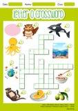 Letter O crossword template vector illustration