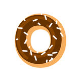 Letter O donut font. Doughnut alphabet. Sweet lettering. candy A Stock Photo
