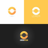 Letter O logo design icon set background Royalty Free Stock Image