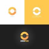 Letter O logo design icon set background Royalty Free Stock Image