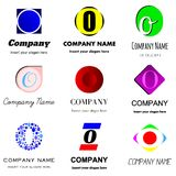 Letter O logo. Vector set of alphabetical Logo Design with different moods and Concepts - Letter O Royalty Free Stock Photo