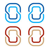 Letter O number 0 zero icon symbol Royalty Free Stock Images