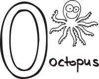Letter O - octopus Stock Photos
