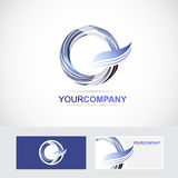 Letter O Q logo icon Royalty Free Stock Photography