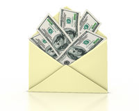 Letter open money Stock Image