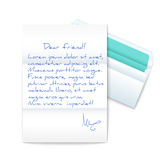 Letter with Opened Envelope Stock Photo
