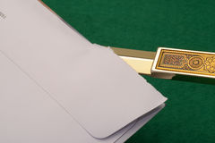 Letter opening Royalty Free Stock Photo