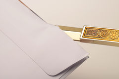 Letter opening Stock Photography