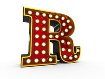Letter P 3D Broadway Style Stock Photography