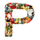 Letter P, For Christmas Decoration Royalty Free Stock Image