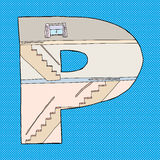 Letter P House Royalty Free Stock Image