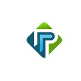 Letter P logo concept. Elegant strong corporate letter P logo concept Royalty Free Stock Images