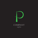 The letter P logo - a symbol of your business Stock Photos
