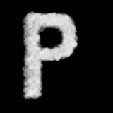 Letter P made of the clouds Stock Photo