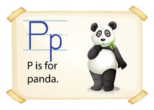 A letter P for panda Royalty Free Stock Images