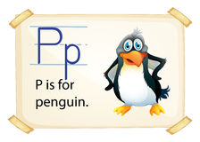 A letter P for penguin Royalty Free Stock Images