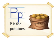 A letter P for potatoes Royalty Free Stock Photos