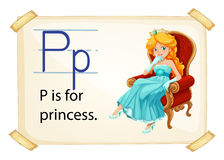 A letter P for princess Royalty Free Stock Image