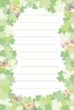 Letter paper. Decorative letter paper with lines Royalty Free Stock Images