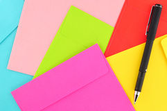 Letter paper colorful Stock Image