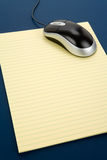 Letter paper and computer mouse Royalty Free Stock Image