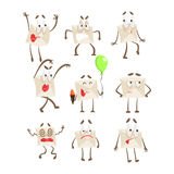 Letter Paper Envelop Cartoon Character Emotion Illustrations Collection. Vector Drawings With Humanized Mail Cover With Different Facial Expressions And Stock Photos