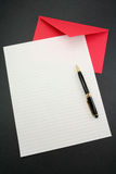 Letter paper and envelope Royalty Free Stock Images