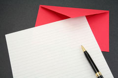 Letter paper and envelope Stock Images