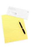Letter paper and  envelope Royalty Free Stock Photo