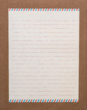 Letter paper. A lined letter paper on the board Royalty Free Stock Photography