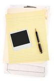 Letter paper and pen Stock Photo