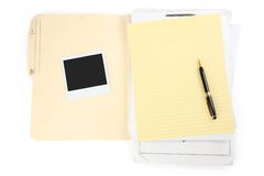 Letter paper and pen Royalty Free Stock Photo