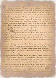 Letter on parchment. Old grunge aged letters background Royalty Free Stock Images