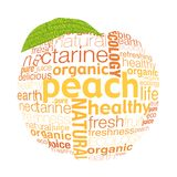Letter peach. Organic fruits concept was created with typographic design Royalty Free Stock Images