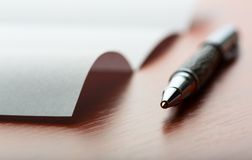Letter and pen Stock Image