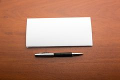Letter and pen Royalty Free Stock Images