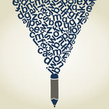 Letter a pencil Royalty Free Stock Image