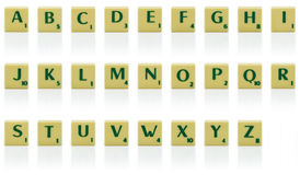 Letter pieces Stock Photo