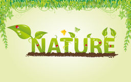 Letter from plants Royalty Free Stock Photos