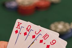 Letter poker Royalty Free Stock Photos