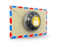 Letter protection (clipping path included) Stock Image