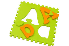 Letter puzzle. Royalty Free Stock Photo
