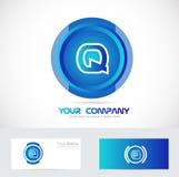 Letter q blue blue circle logo Stock Photography